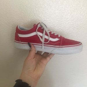 RED CANVAS OLD SKOOL VANS